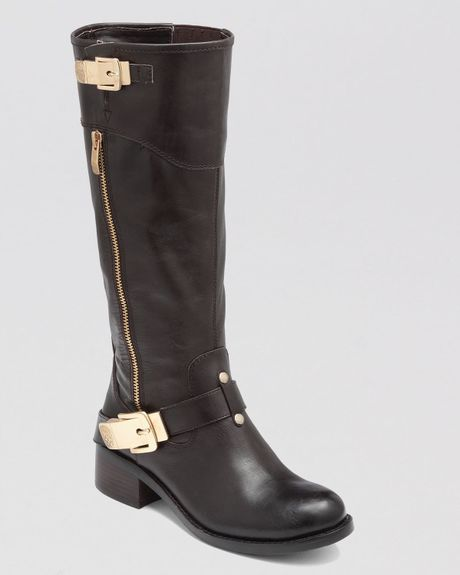 vince camuto boots waymin moto in brown lyst