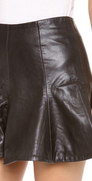 bec bridge haku leather skirt in brown black lyst