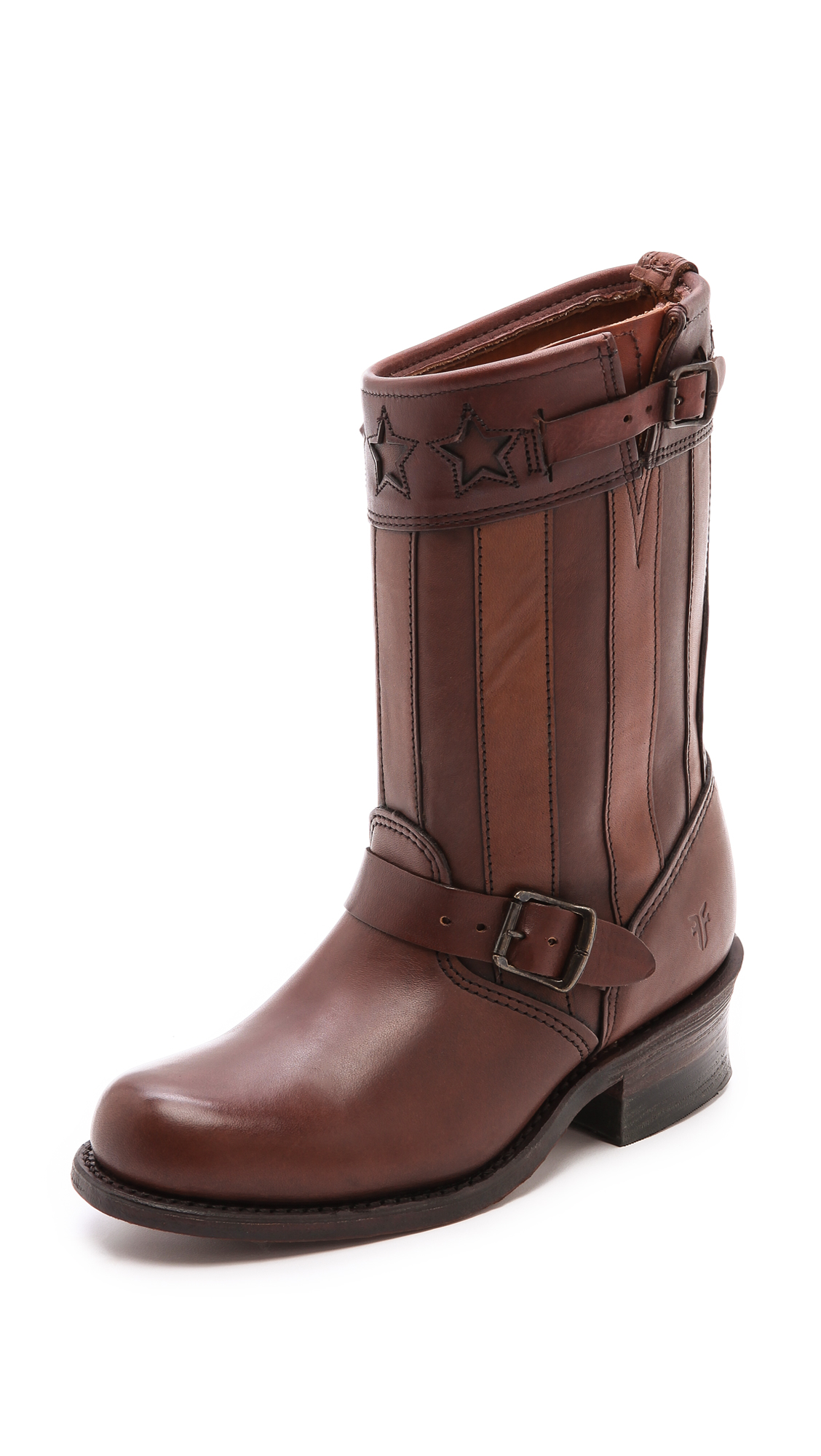 Frye 150th Anniversary Engineer Americana Short Boots In