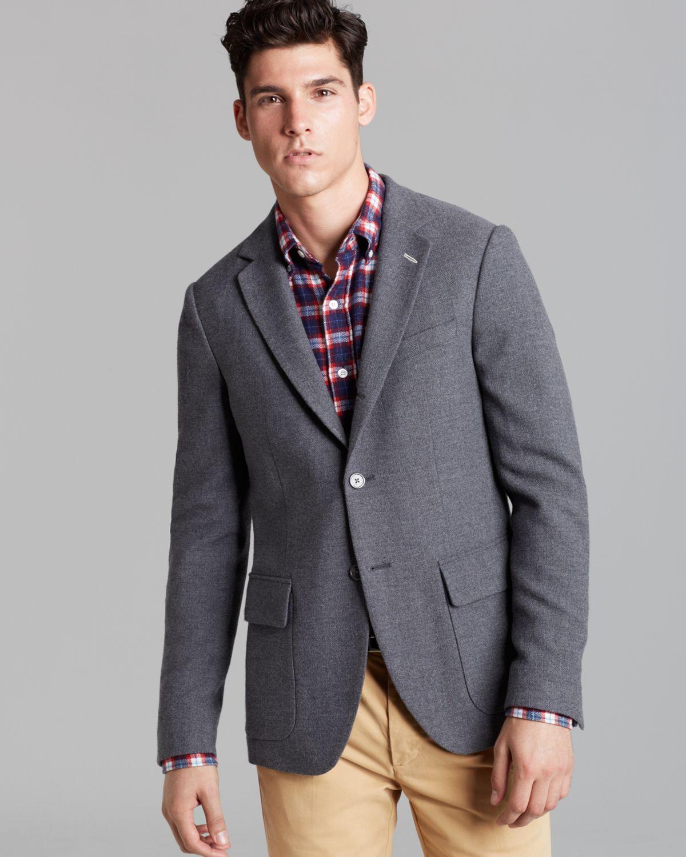 Blazers For Men Pinterest: Gant Rugger Hopsack 32 Unconstructed Blazer In Gray For