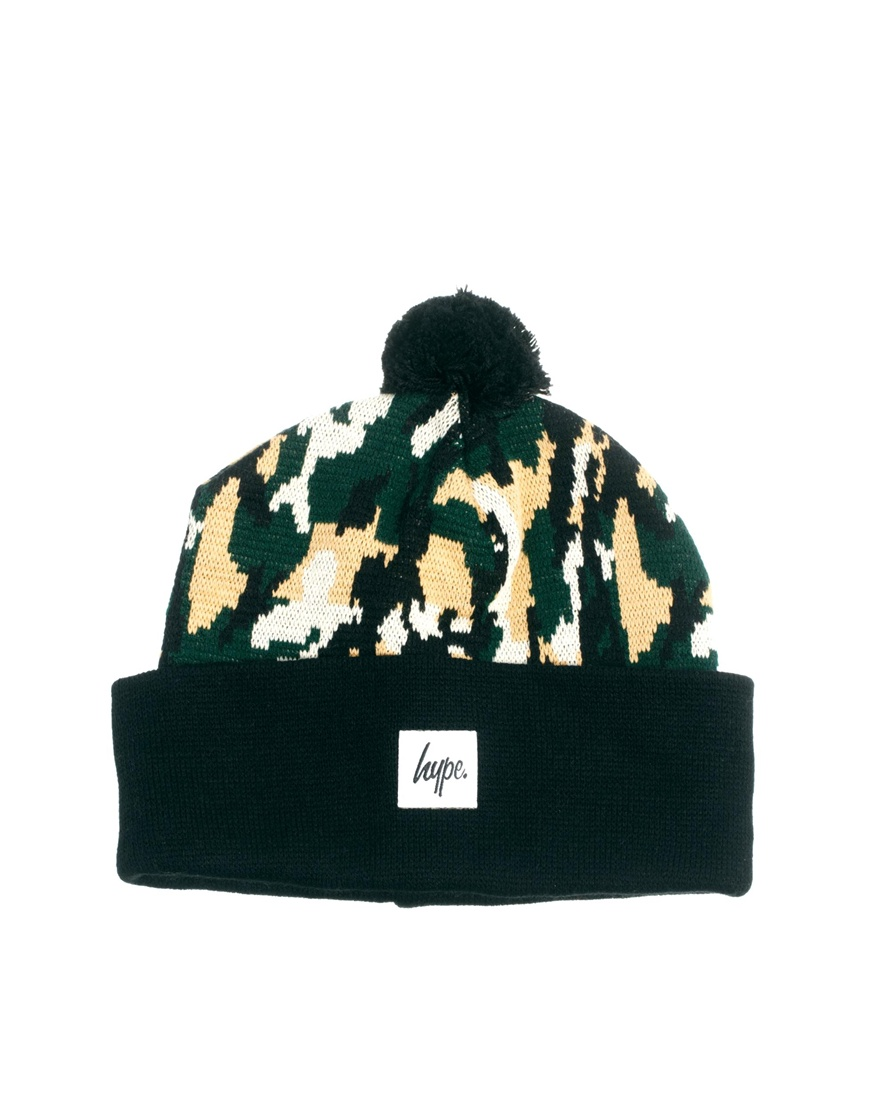 f691495f1cd Lyst - Blk Pine Workshop Hype Camo Bobble Beanie Hat in Green for Men