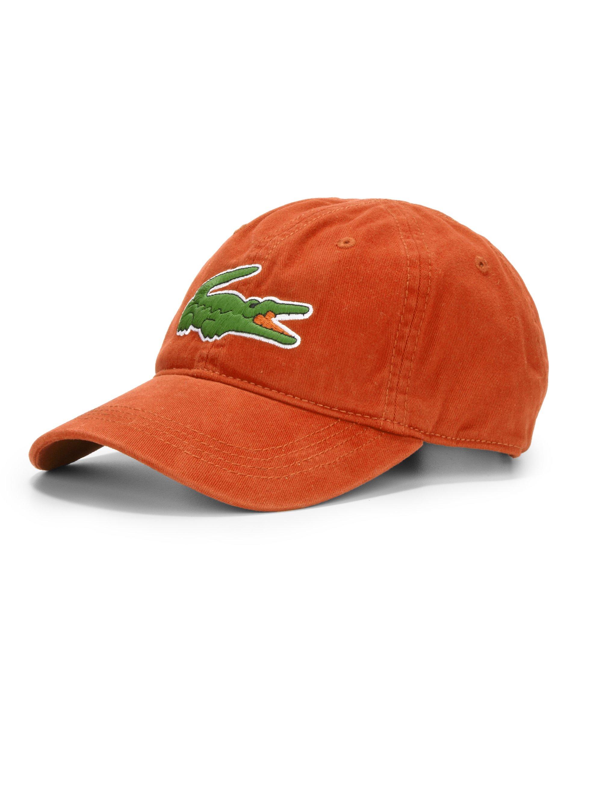 729a66dc Lacoste Orange Cotton Baseball Cap for men