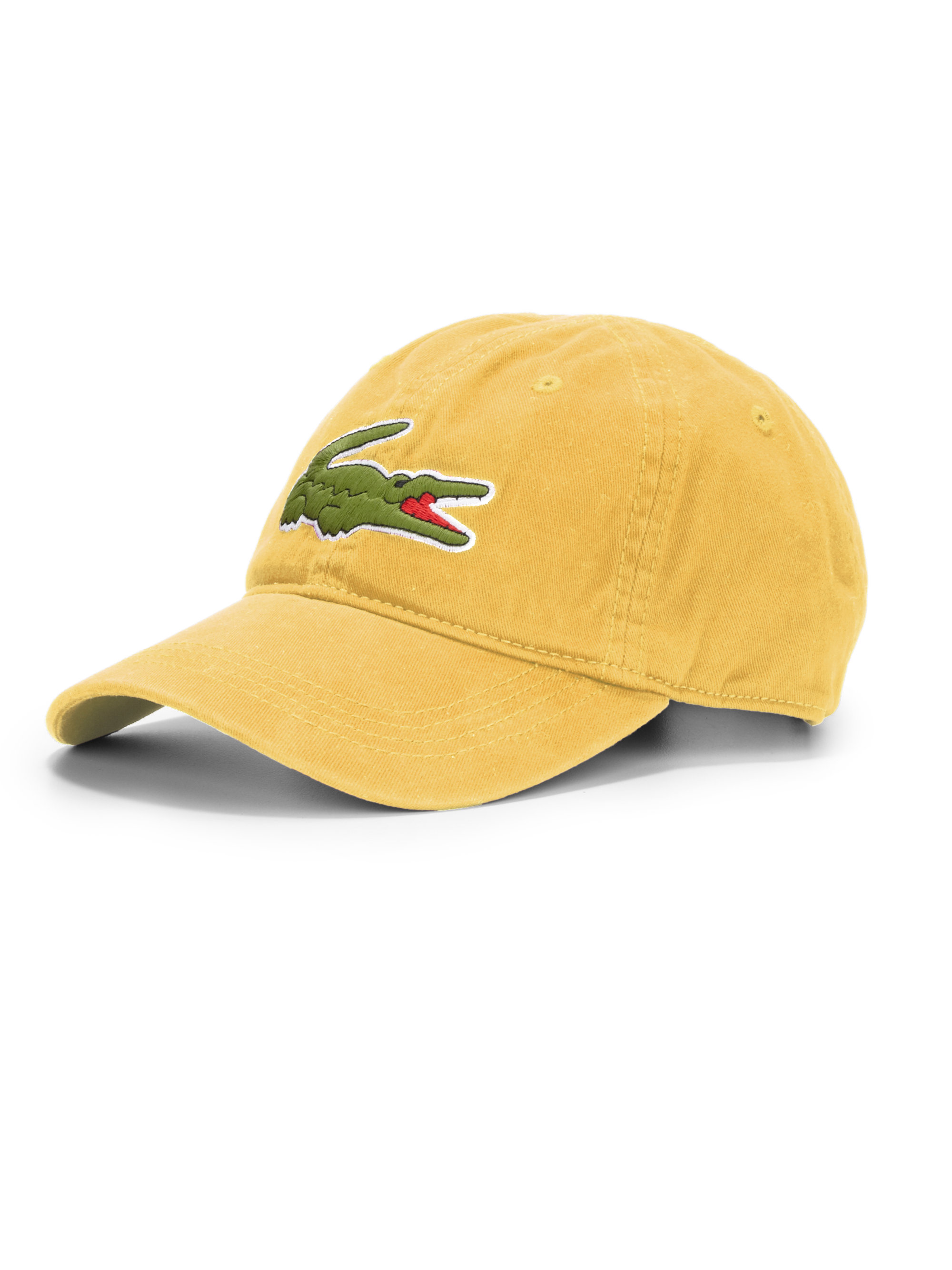 Lyst Lacoste Cotton Baseball Cap In Yellow For Men