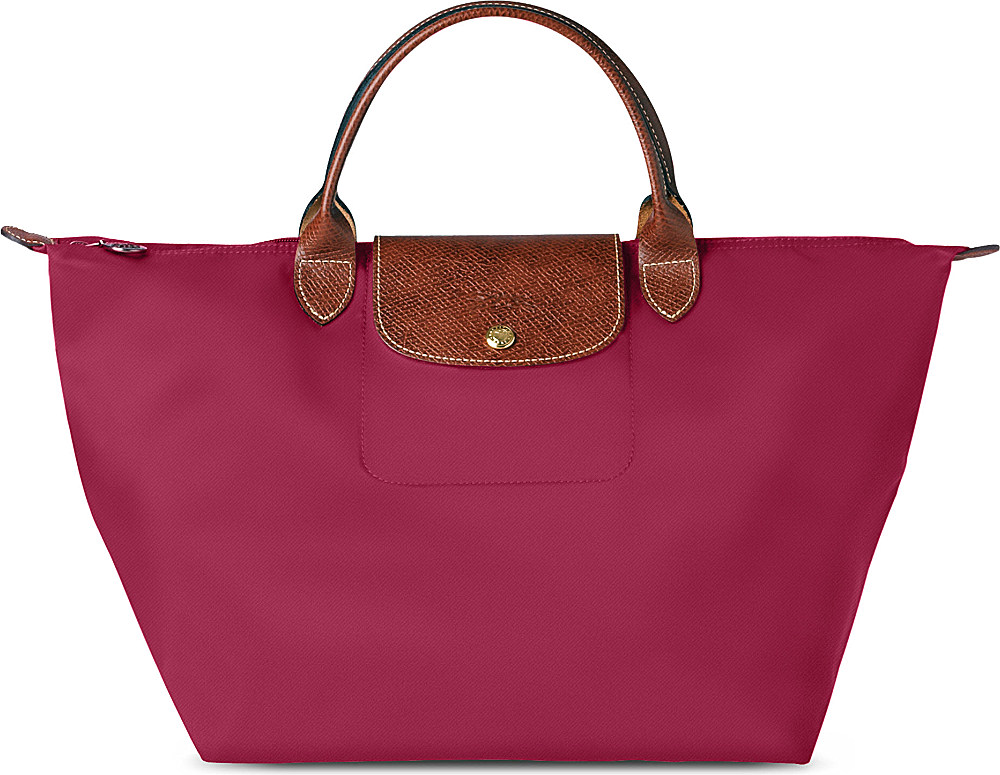 Longchamp Le Pliage Large Handbag In Purple Lyst