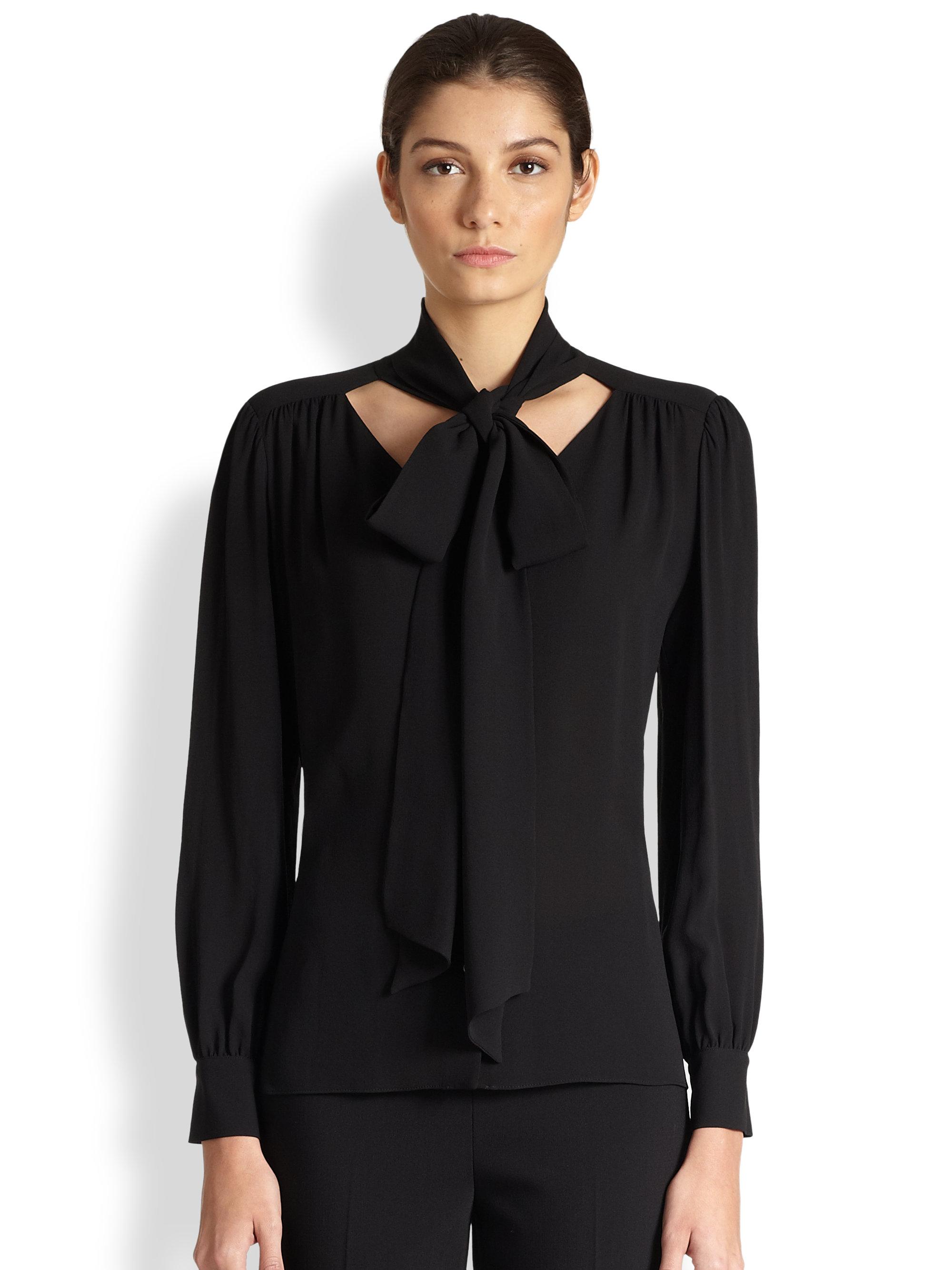 Sheer Black Blouse Long Sleeve