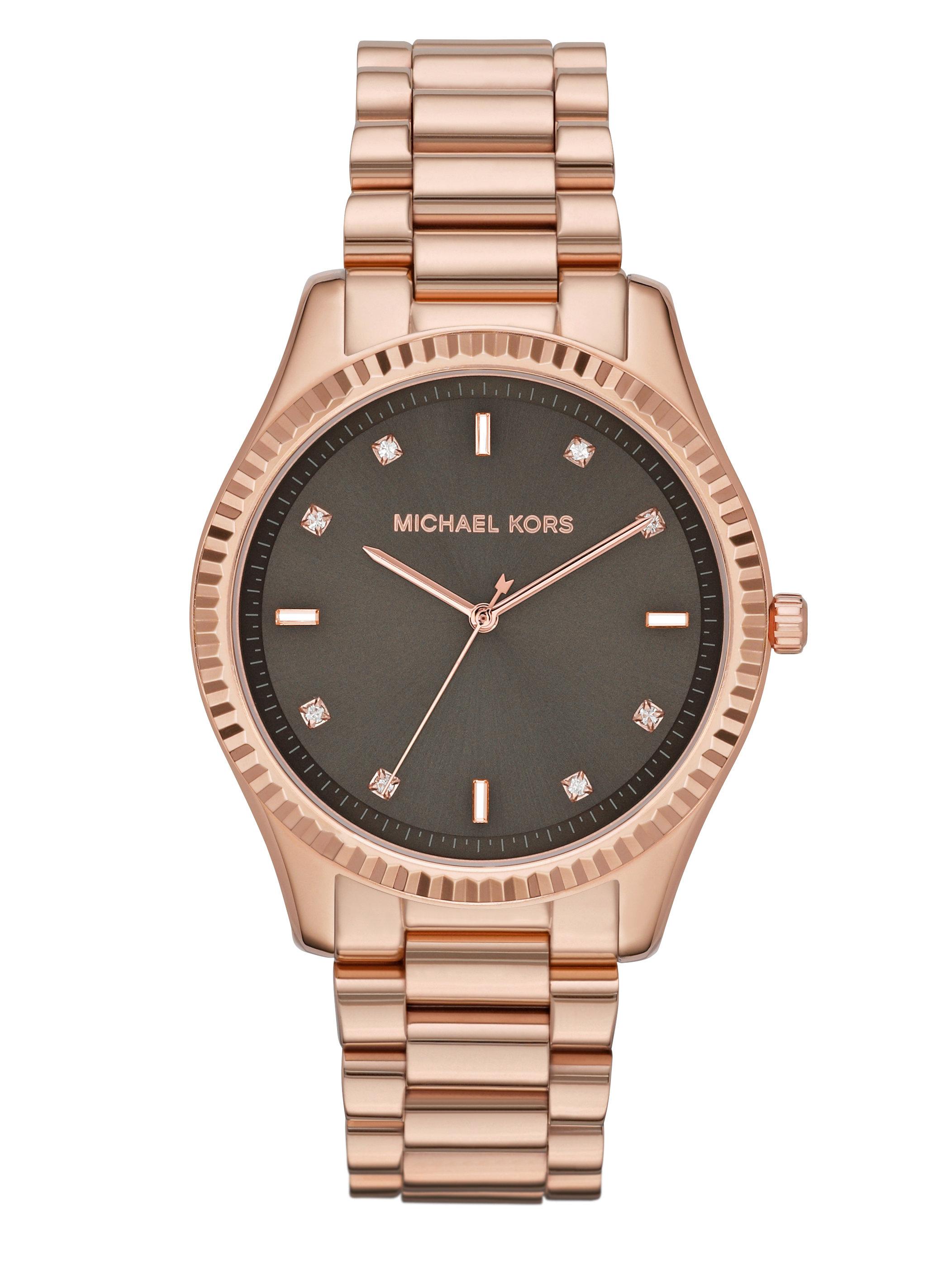 michael kors rose goldtone stainless steel crystal watch. Black Bedroom Furniture Sets. Home Design Ideas