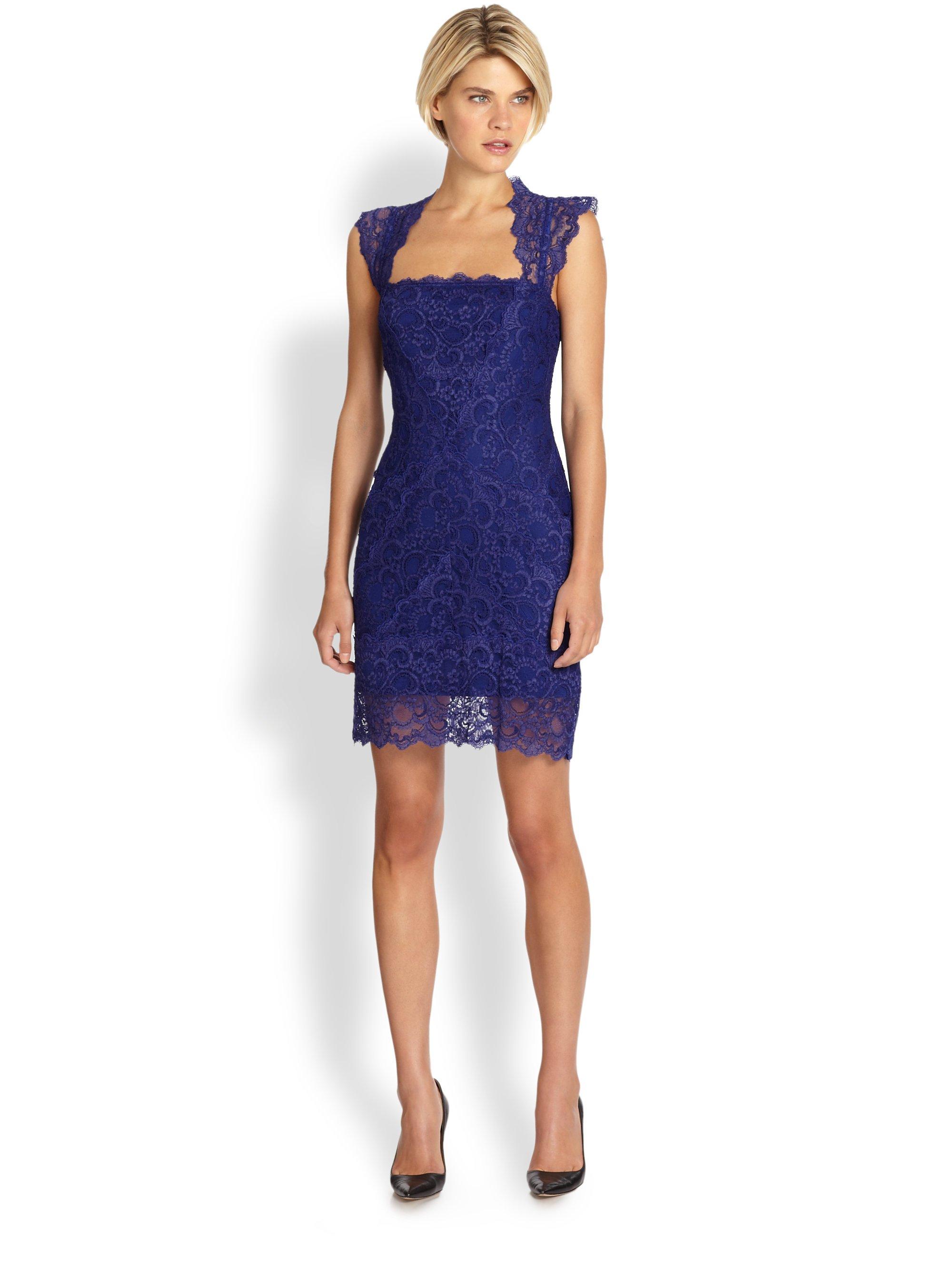 Stretch Lace Cutout Back Dress