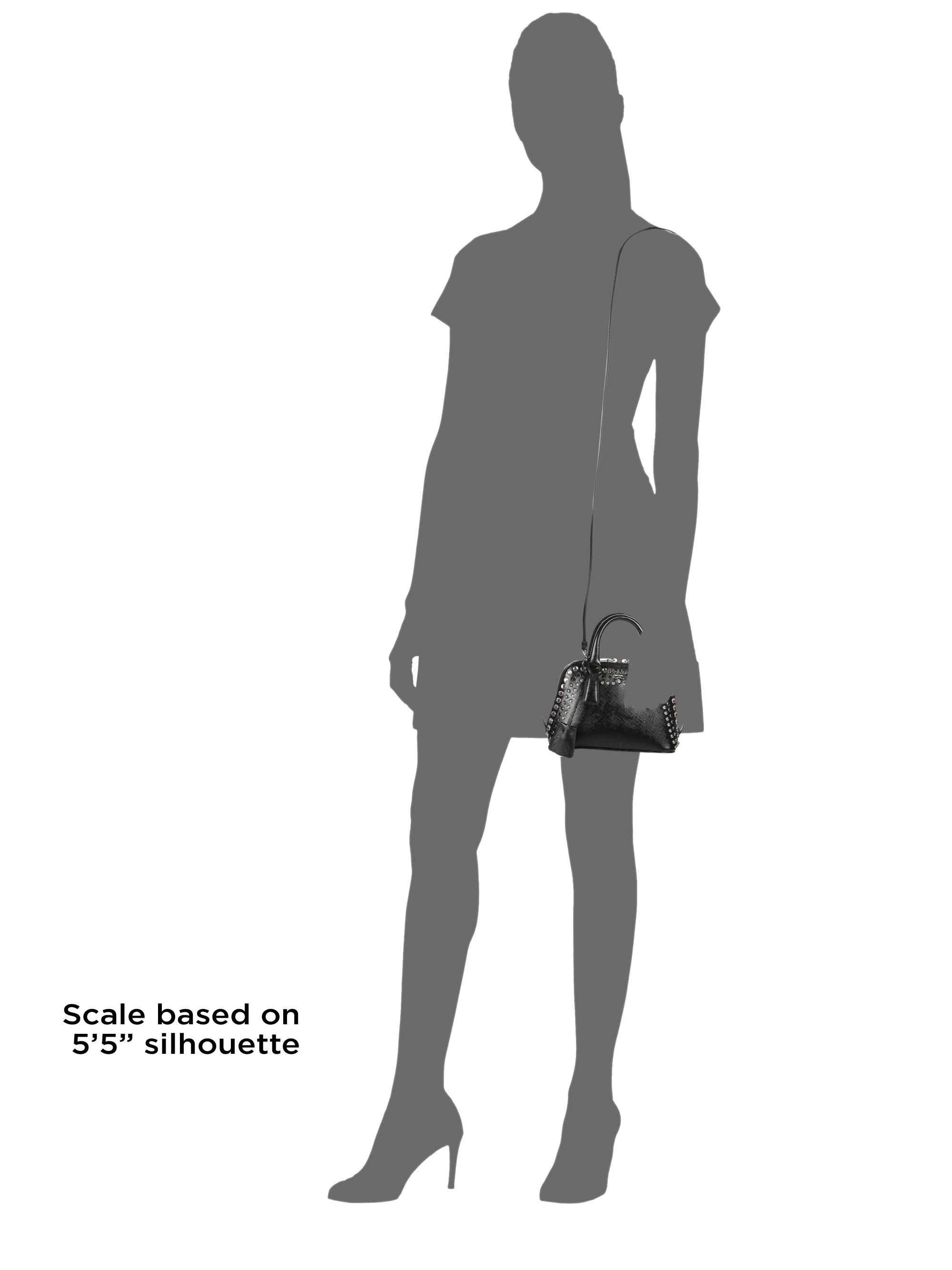 d3c050f5 Prada Black Saffiano Vernice Mini Promenade Bag