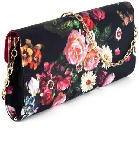 Ted Baker Floral Clutch In Floral (Black) | Lyst