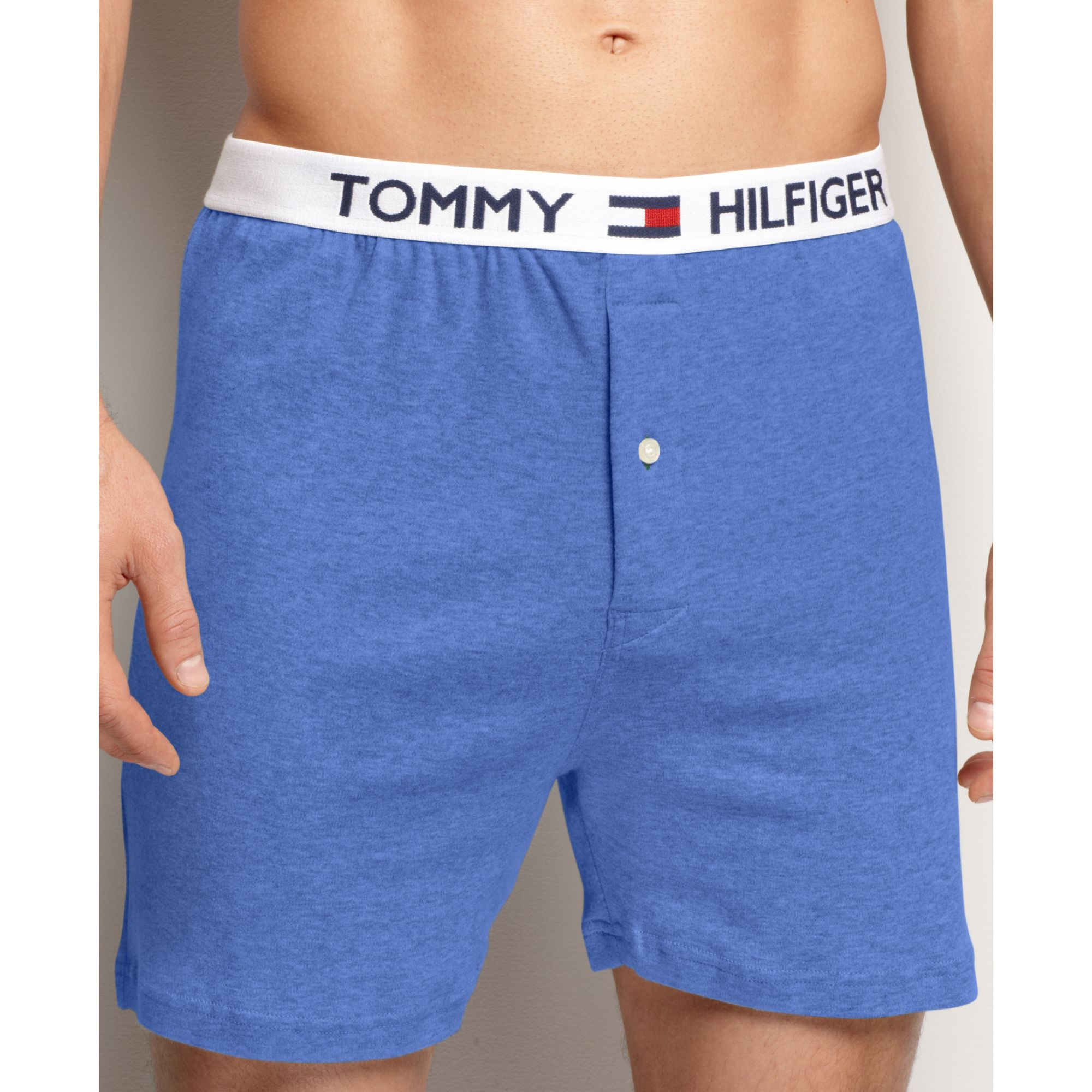 71acbb1c5041 Tommy Hilfiger Athletic Knit Boxer in Blue for Men - Lyst