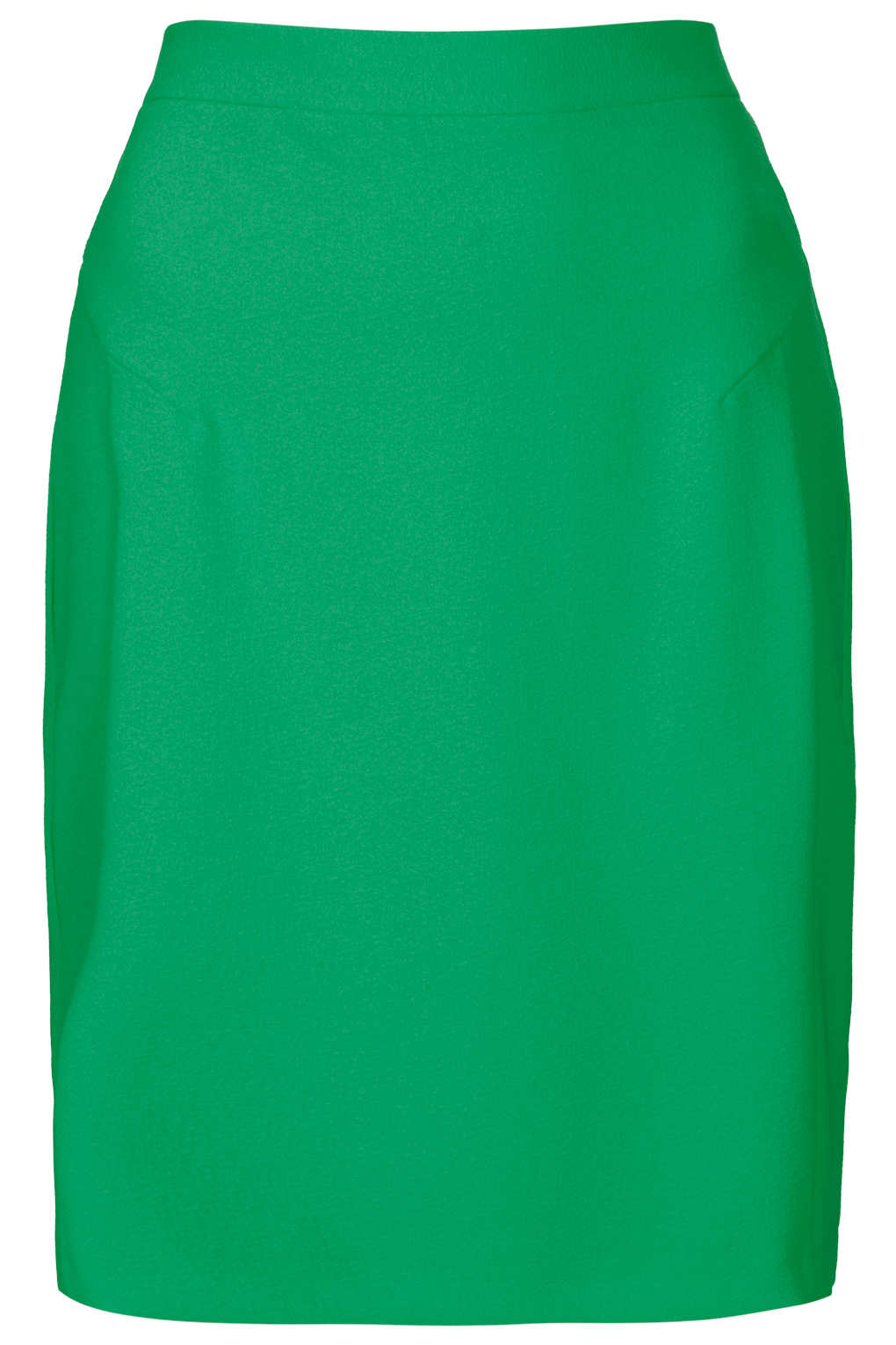 topshop green crepe pencil skirt in green lyst