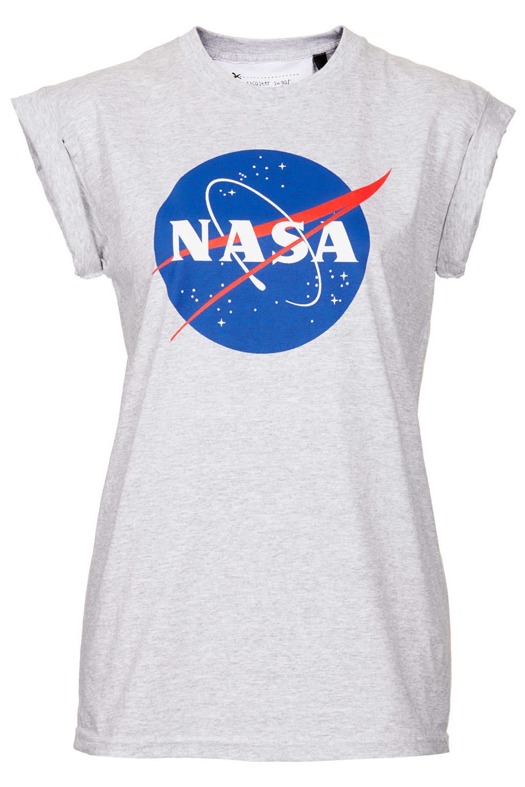 lyst topshop nasa tee by tee and cake in gray. Black Bedroom Furniture Sets. Home Design Ideas