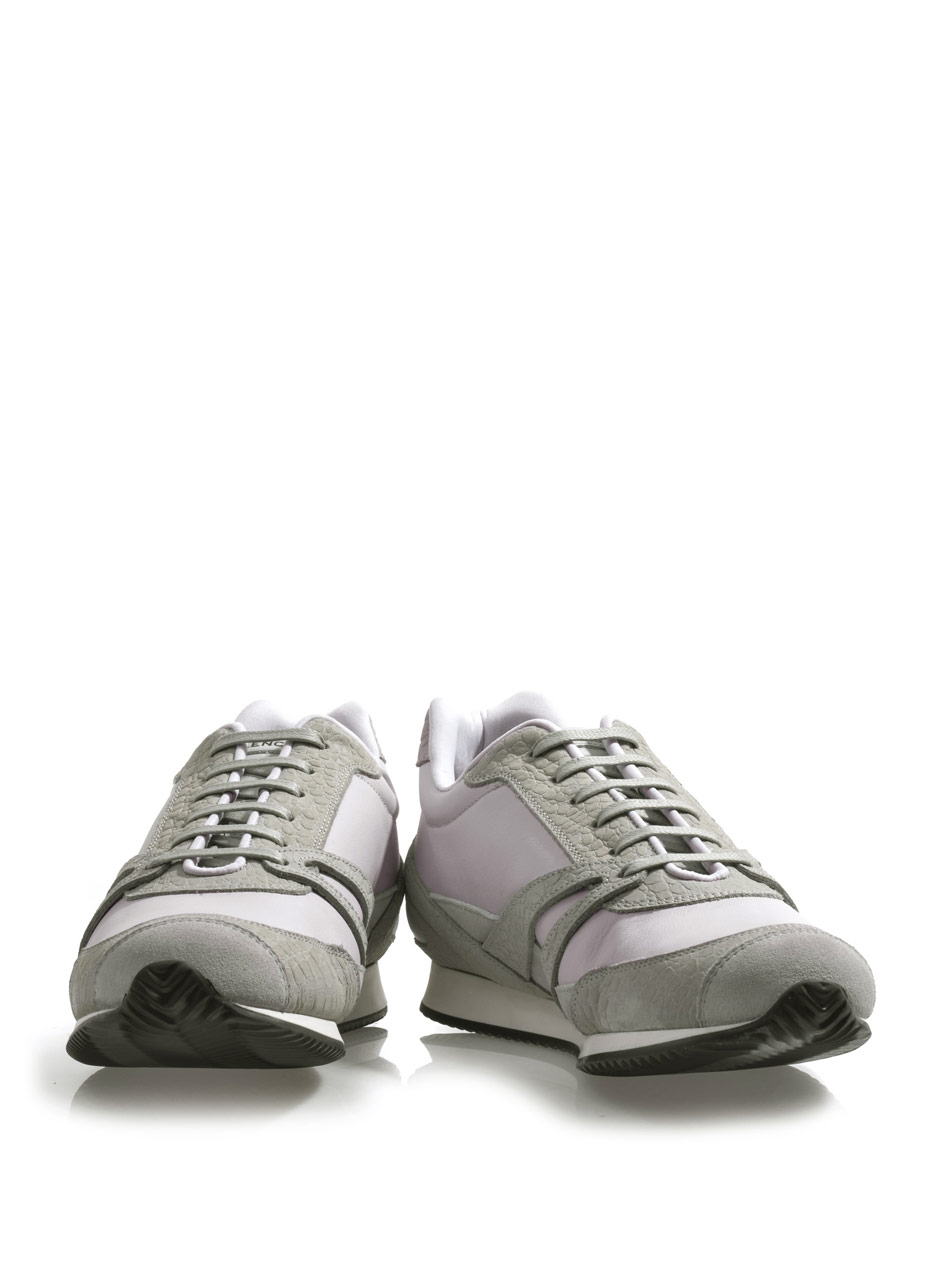 Balenciaga Suede And Leather Trainers in Gray (GREY) | Lyst