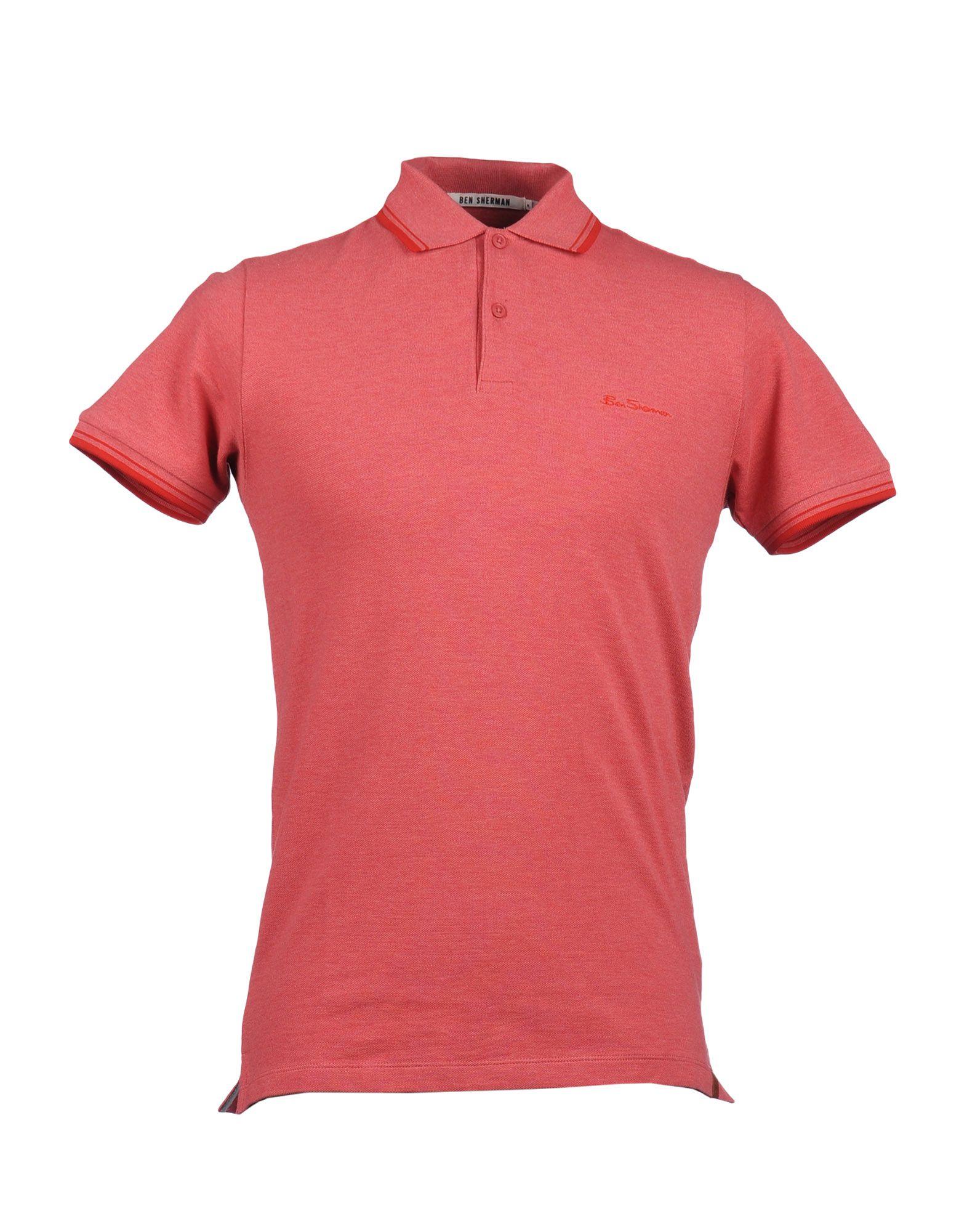 ben sherman polo shirt in pink for men coral lyst. Black Bedroom Furniture Sets. Home Design Ideas
