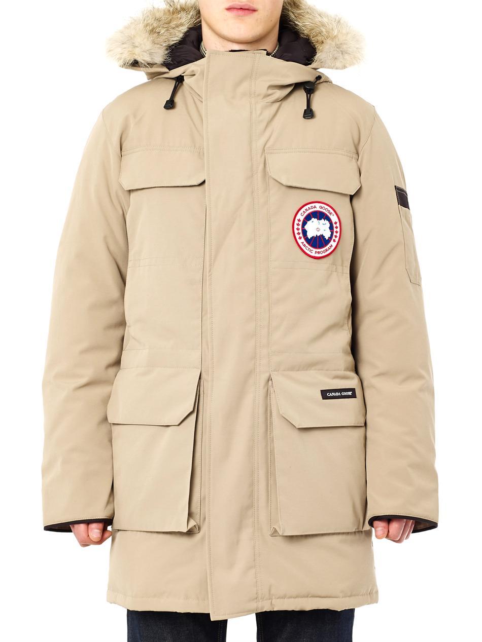 lyst canada goose burnett jacket in tan in brown for men rh lyst com