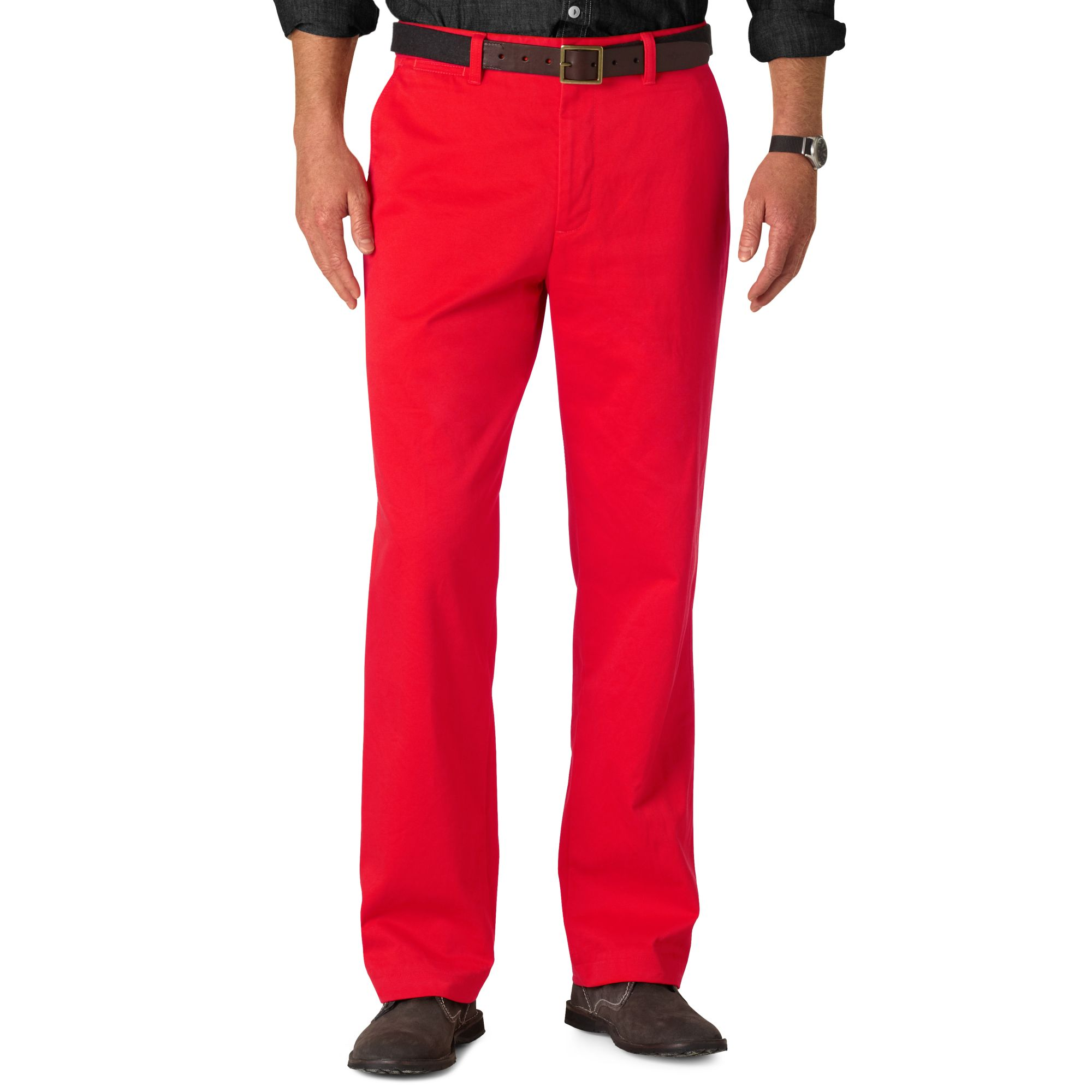 Dockers Classic Fit Game Day Khaki Georgia Pants in Red ...