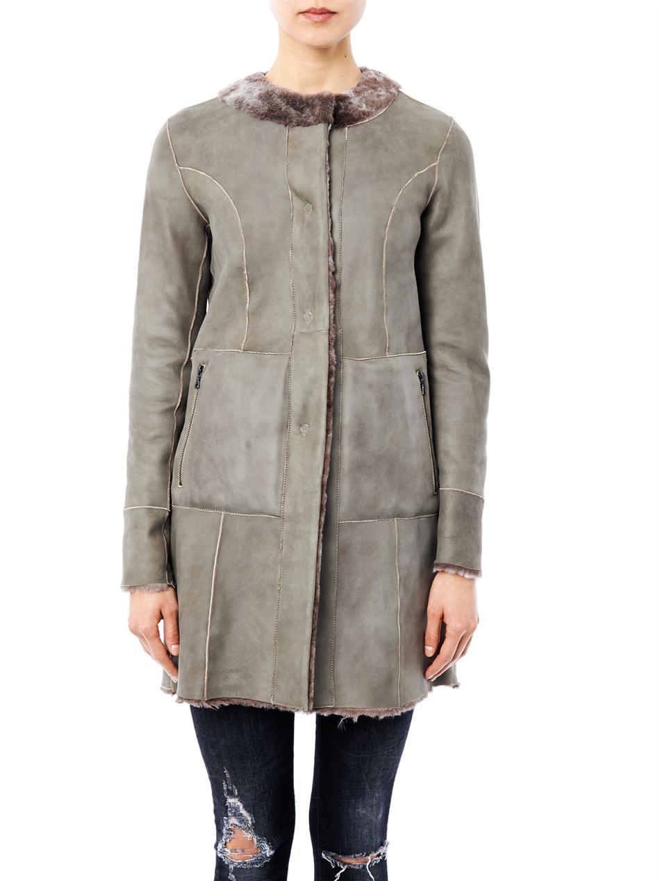 Drome Reversible Shearling Coat in Brown | Lyst