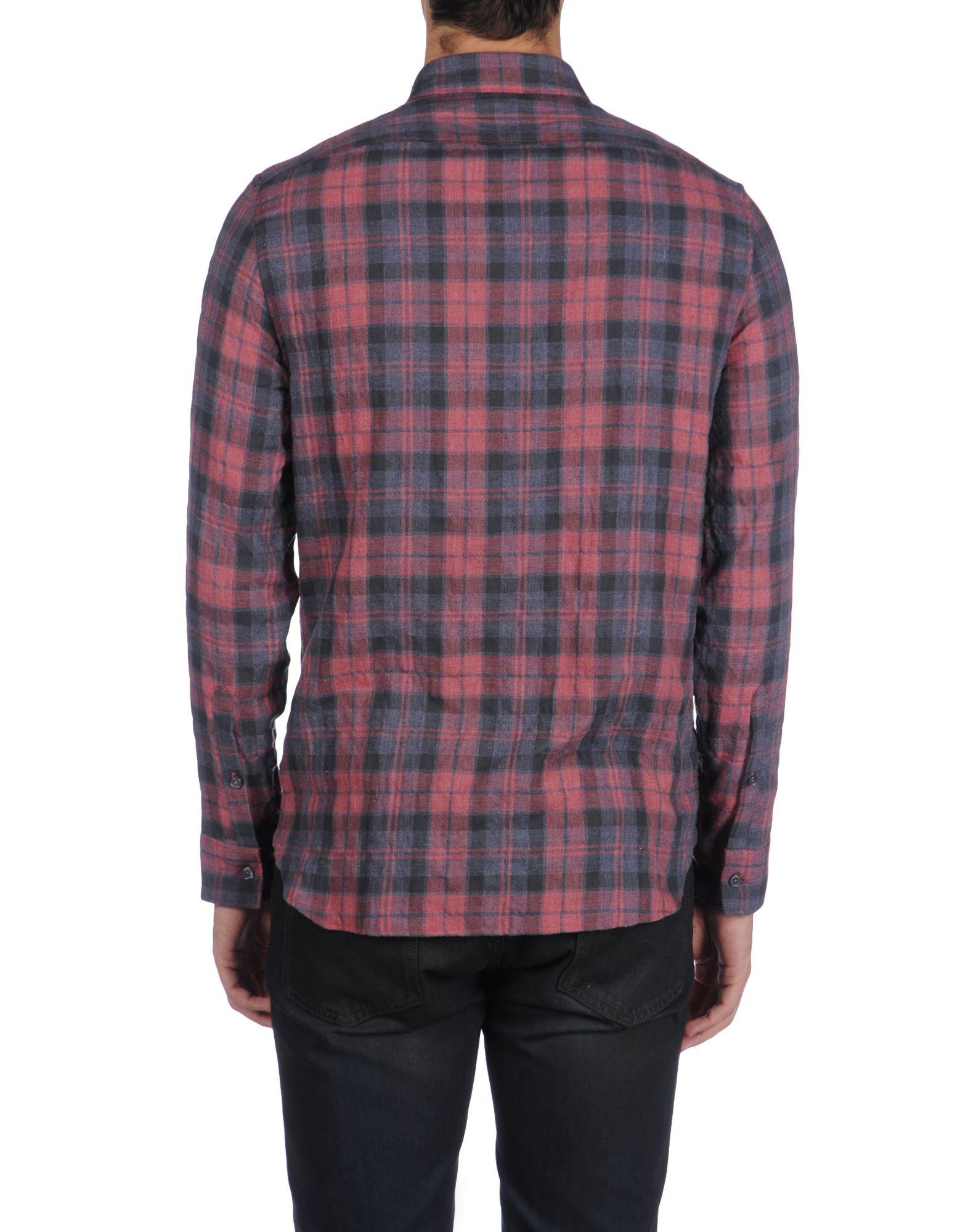 Lyst edun long sleeve shirt in pink for men for Mens pink long sleeve shirt