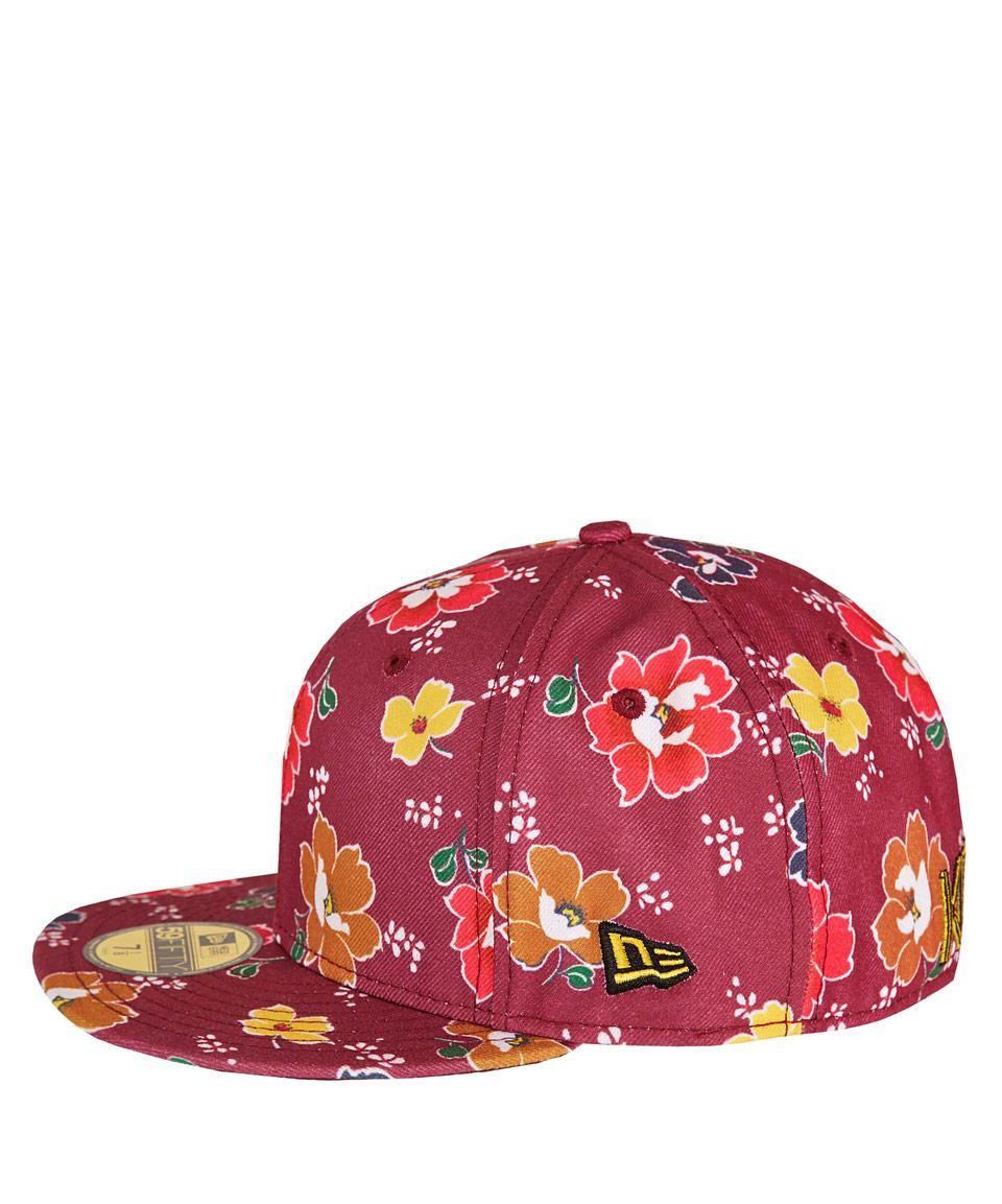 Lyst Kenzo Burgundy New Era Flower Cap In Red