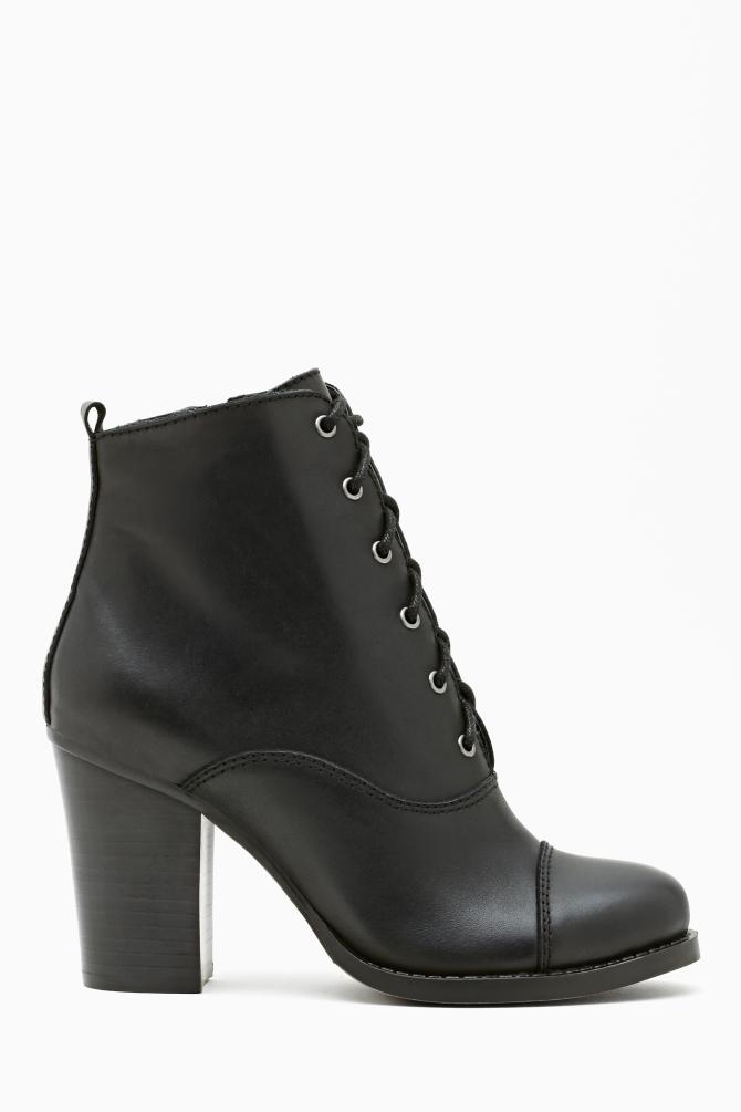 Nasty Gal Shoe Cult Camden Bootie In Black Black Leather