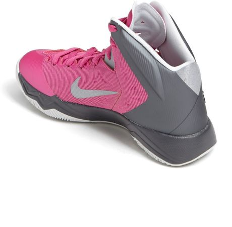 nike hyper quickness basketball shoe in pink pink silver