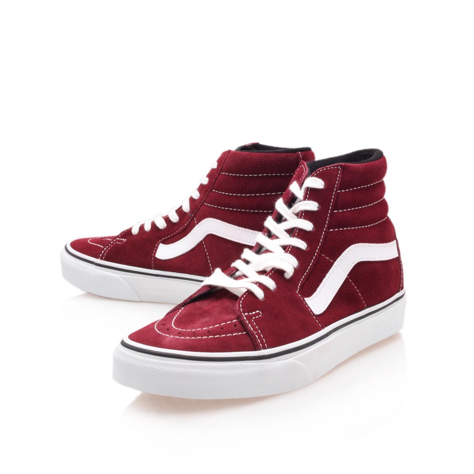 red suede high top vans buy clothes