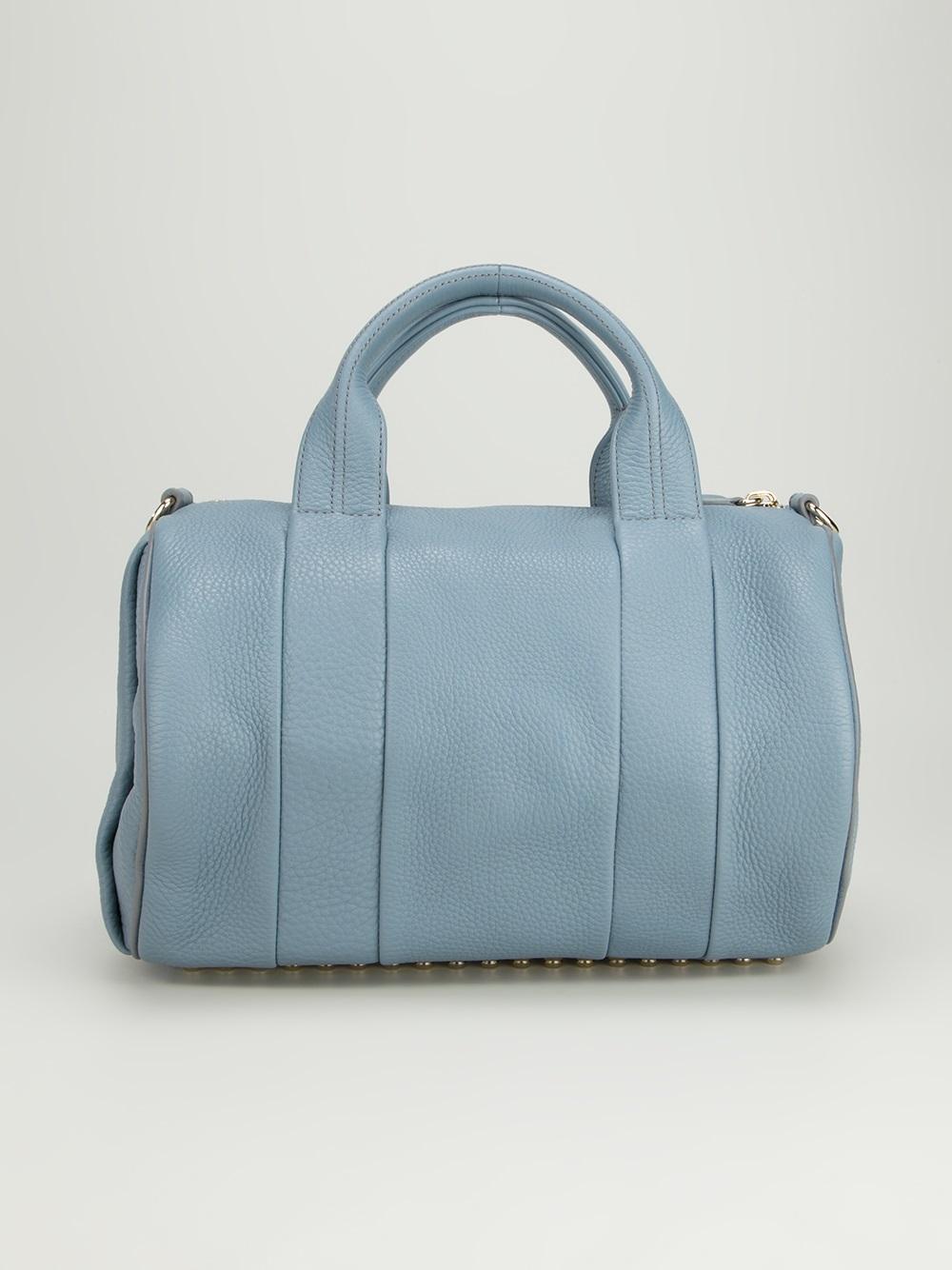 alexander wang rocco bag in blue lyst. Black Bedroom Furniture Sets. Home Design Ideas