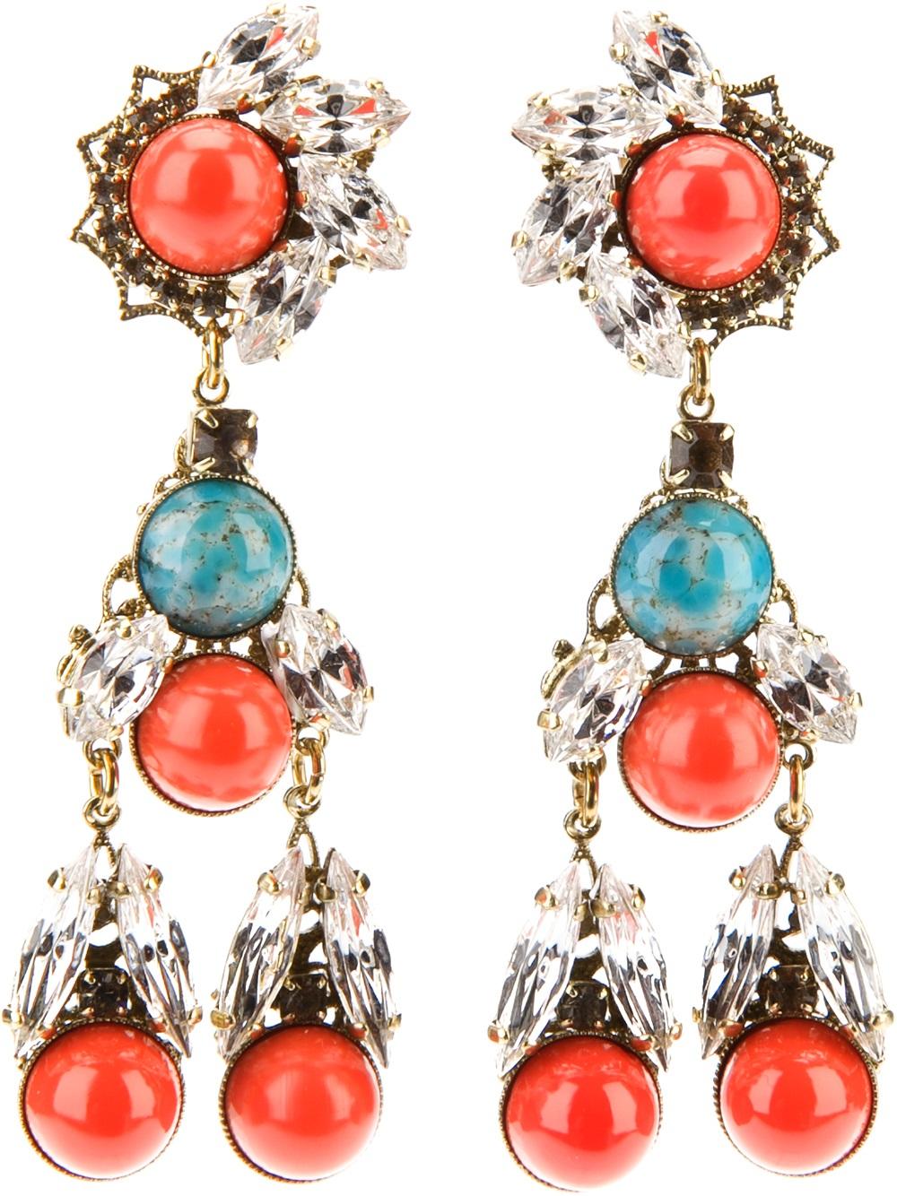 Lyst Anton Heunis Crystal Drop Earrings