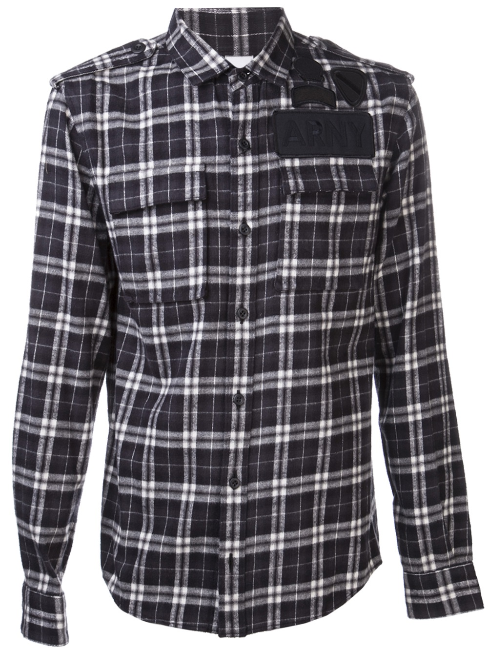 ar srpls plaid flannel shirt in black for men lyst