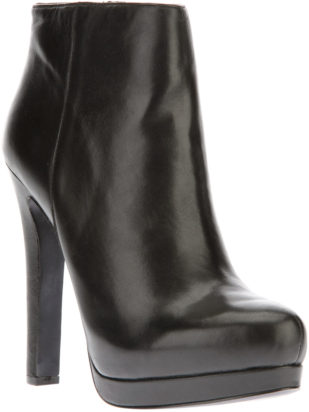 Ash High Heel Ankle Boot in Black | Lyst