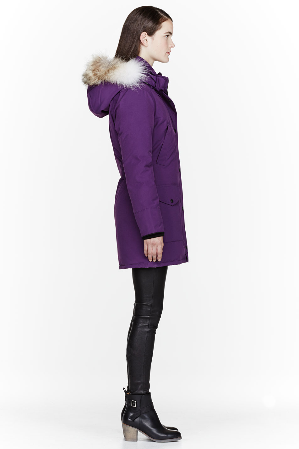 Canada Goose womens outlet shop - Canada goose Purple Down and Fur Trillium Parka in Purple | Lyst
