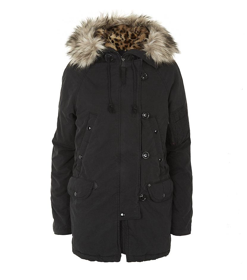 Denim Amp Supply Ralph Lauren Faux Fur Hooded Parka Jacket
