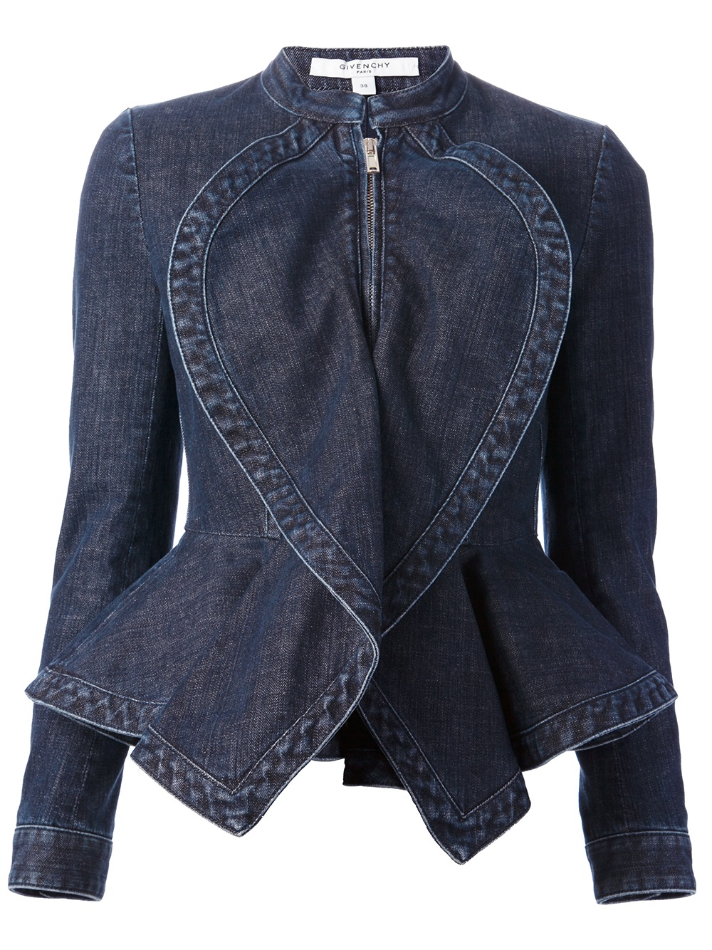 Givenchy Denim Peplum Jacket in Blue