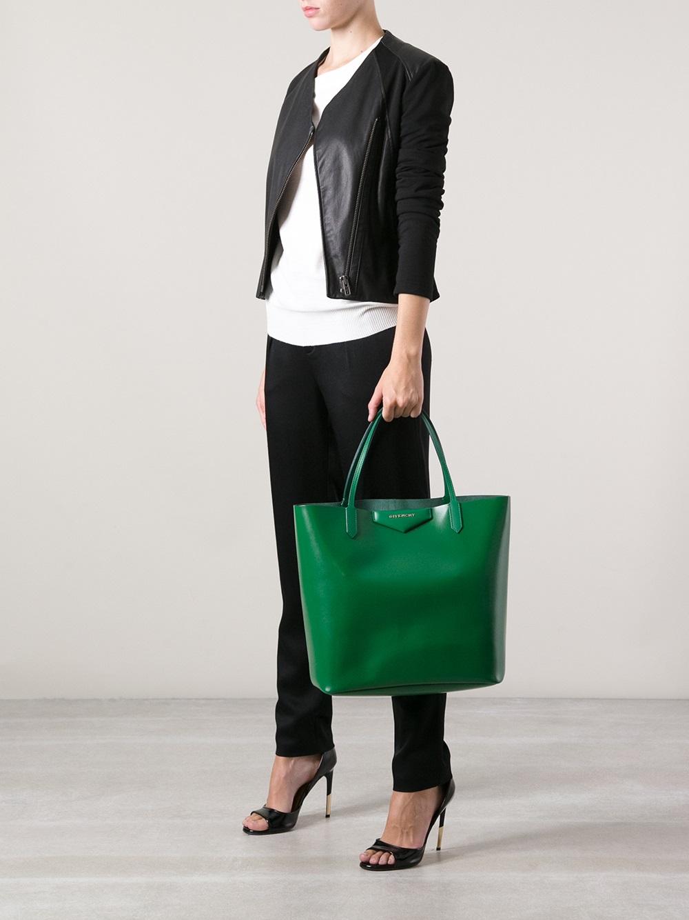 Lyst - Givenchy Antigona Large Shopping Tote in Green b8cf90123f