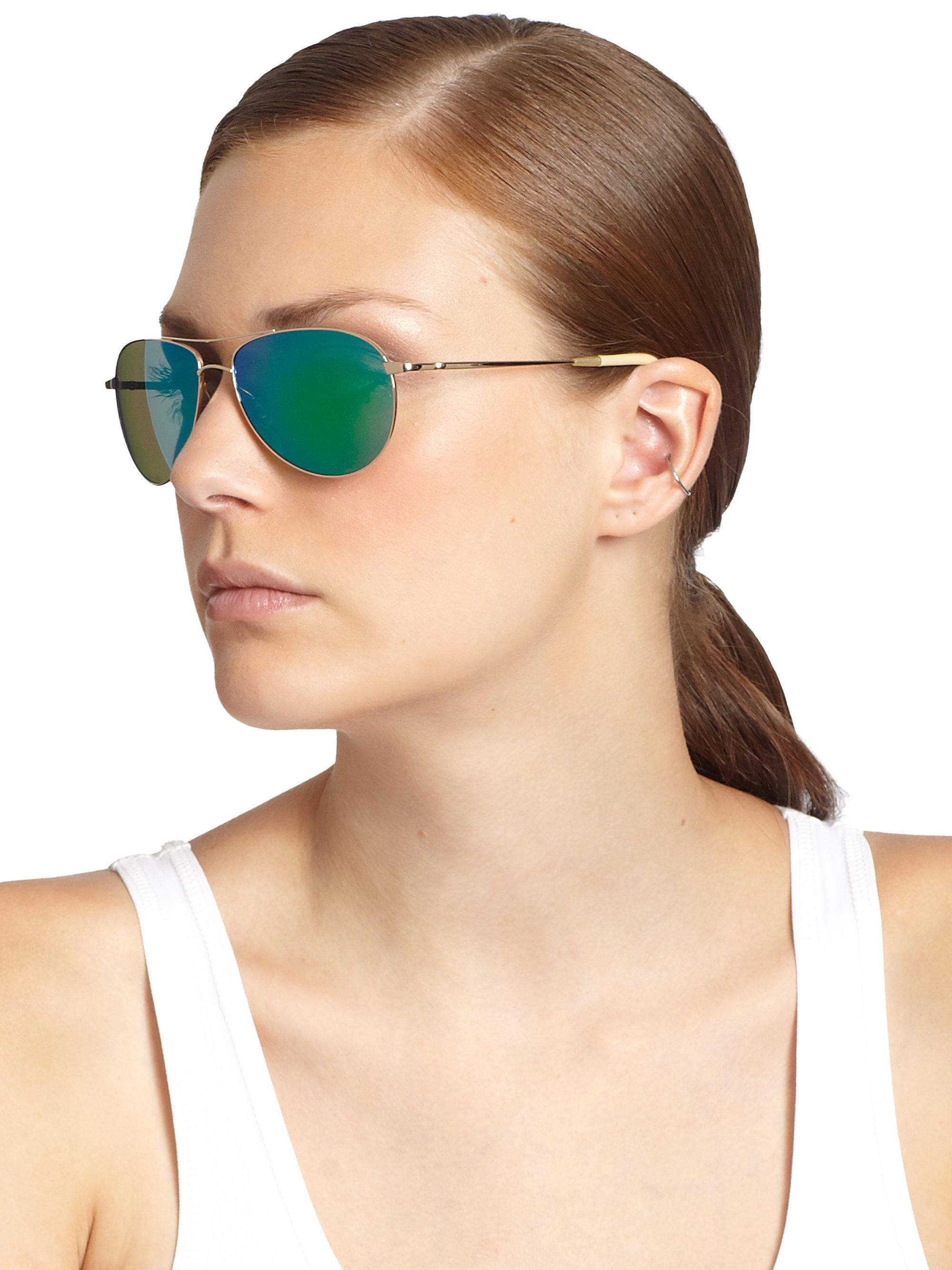 Peoples Oliver Aviator Green Sunglasses Benedict 59 lTFcK31J