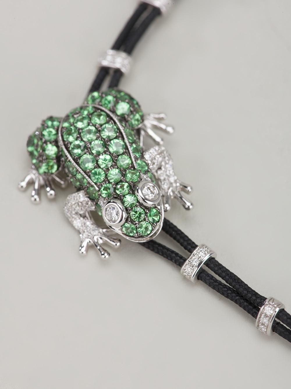 pippo perez frog bracelet in black lyst
