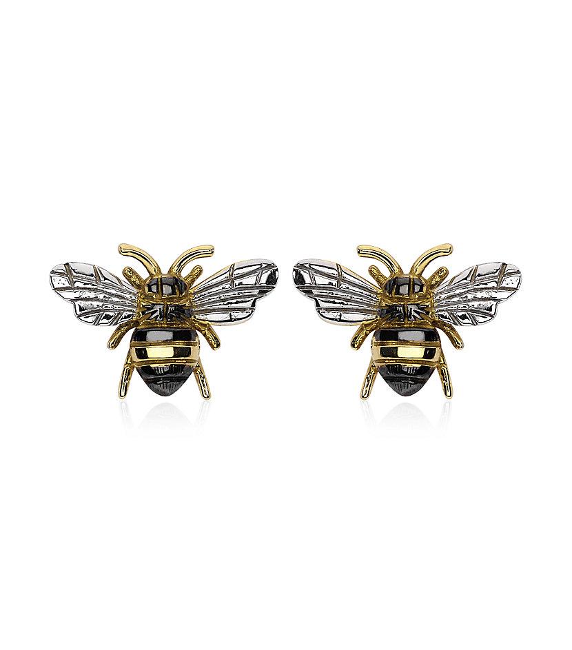 theo fennell bee stud earrings in gold lyst