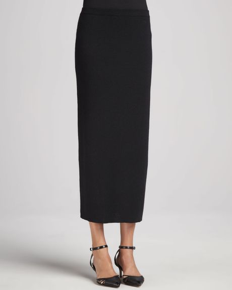 Long Black Knit Skirt 8