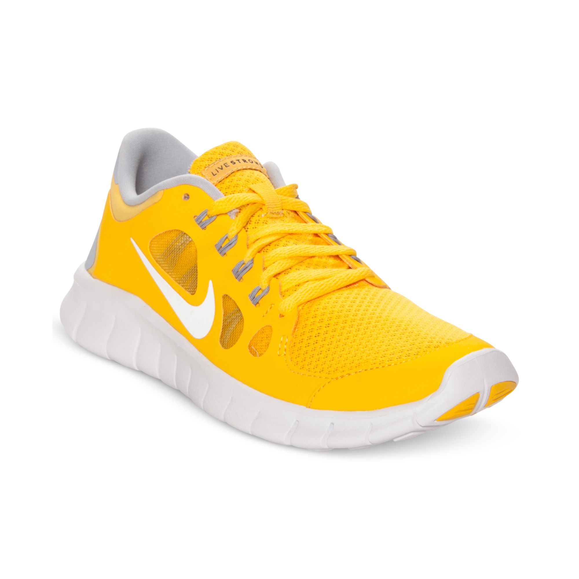 6583b27573b09 Lyst - Nike Girls Free Run 5 Laf Running Sneakers in Yellow