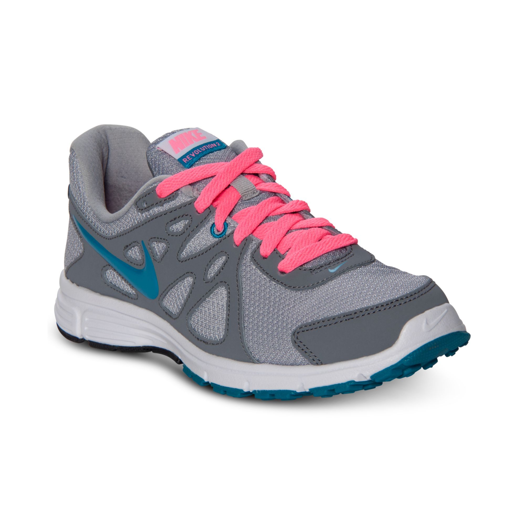 nike revolution 2 running sneakers in gray wolf grey cool. Black Bedroom Furniture Sets. Home Design Ideas