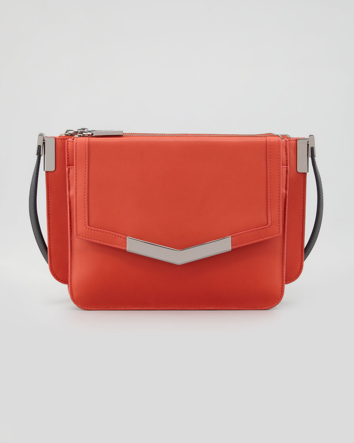 Lyst - Time s Arrow Mini Trilogy Leather Crossbody Bag Paprika in Red 7127b82a32a2d