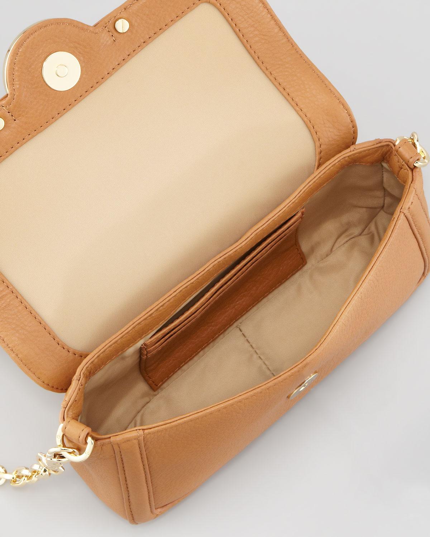 a919a3dfe19f18 Lyst - Tory Burch Amanda Chain Strap Mini Crossbody Bag Royal Tan in ...