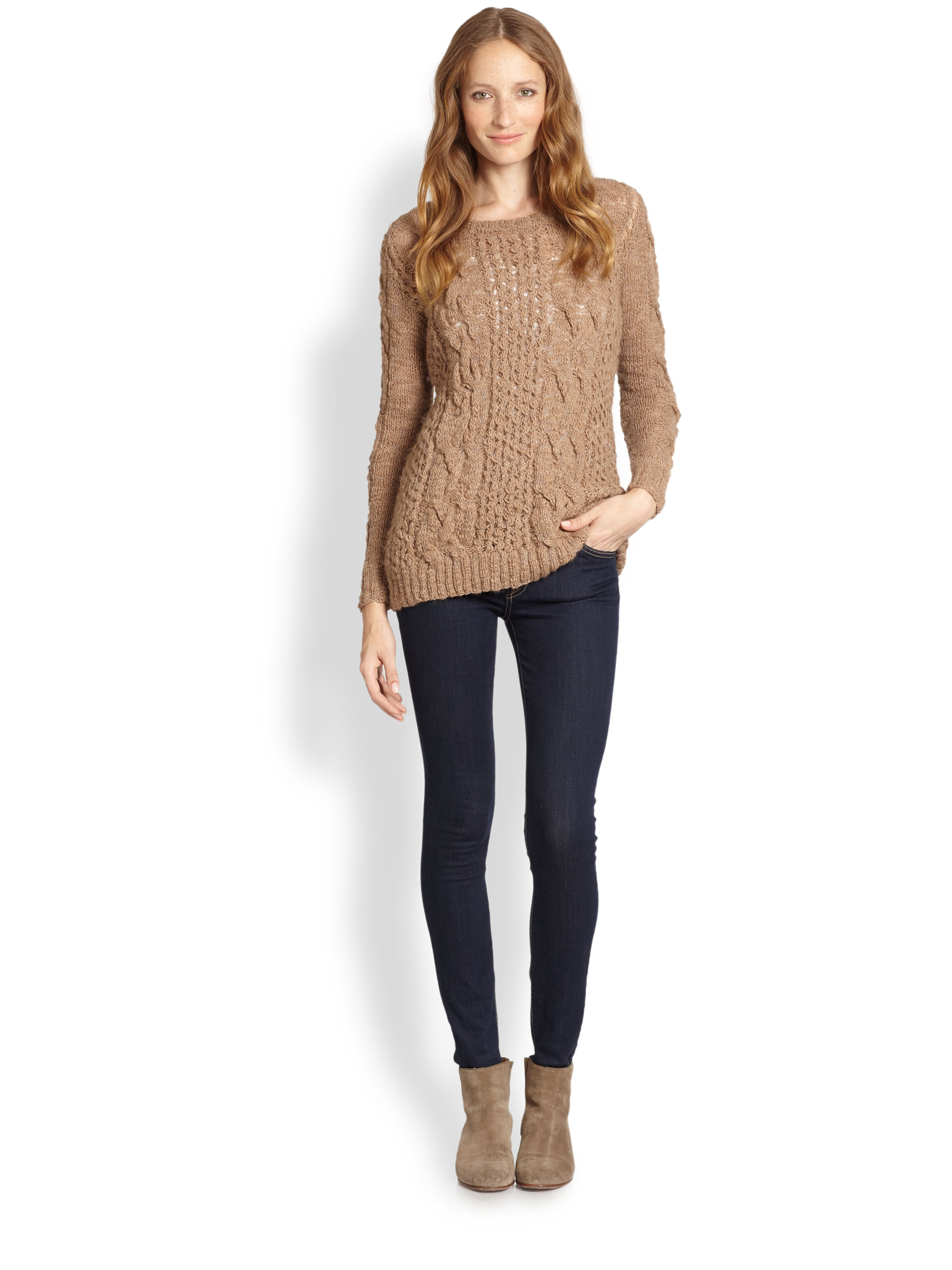 Brown Cable Knit Sweater Choice Image - Craft Design Ideas