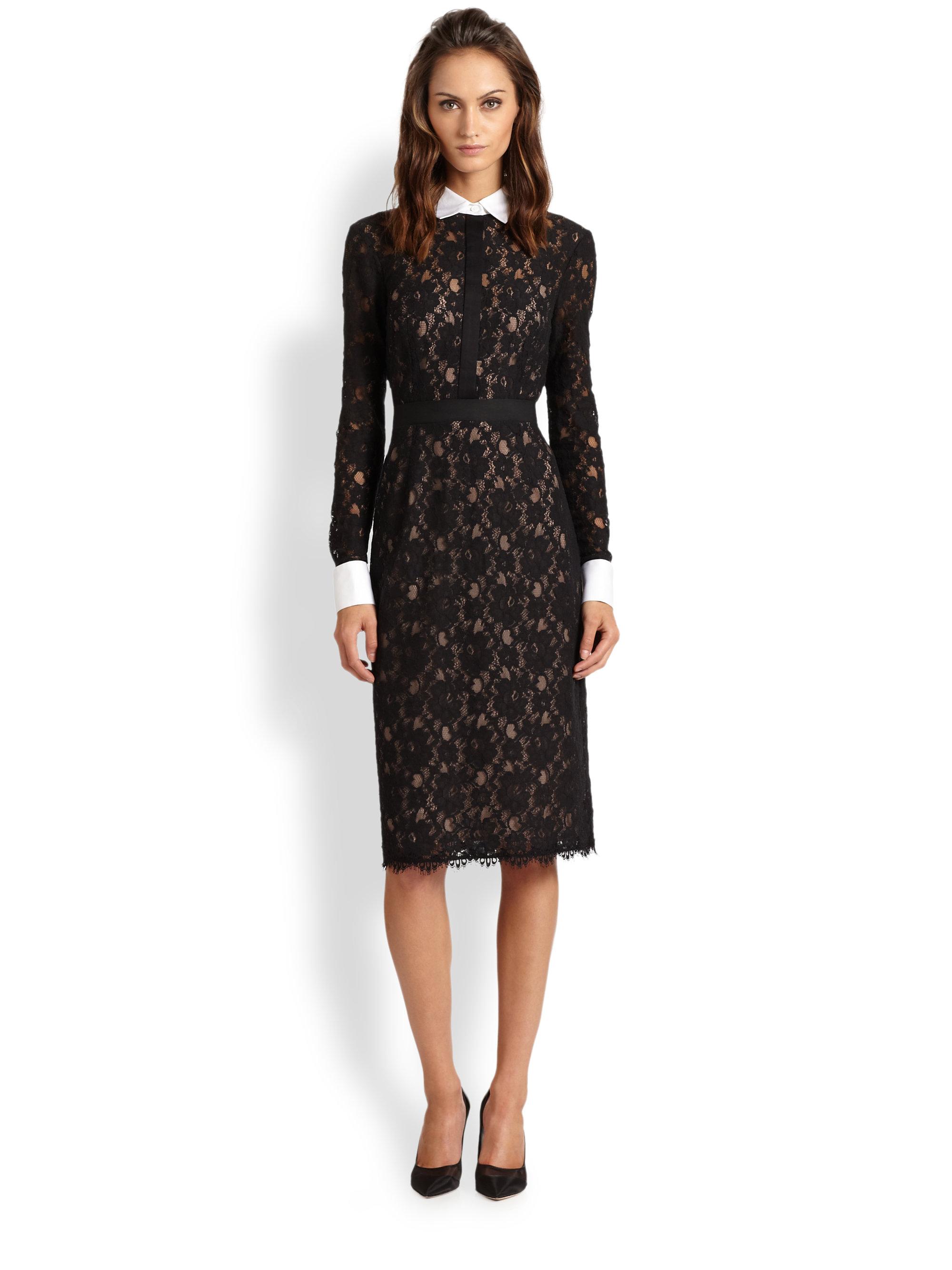c06781b4194b Bcbg Black Lace Dress Long Sleeve