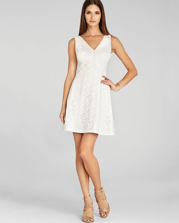 Bedroom Athletics Lyst Bcbgmaxazria Sleeveless V Neck Lace Dress Gracie In