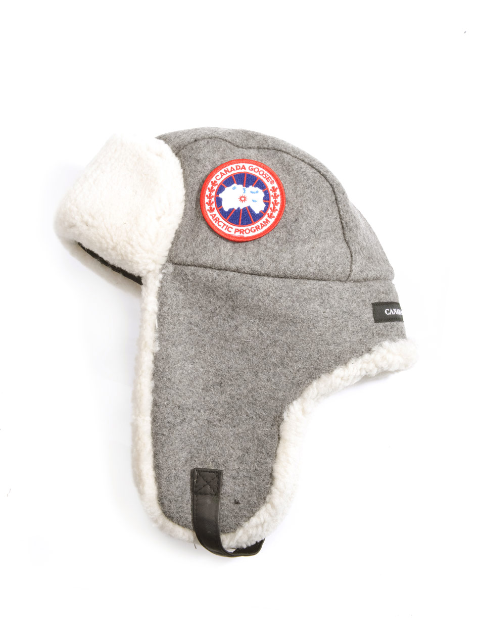 Lyst - Canada Goose Shearling Trimmed Aviator Hat in Gray for Men 6c76a1d9675e