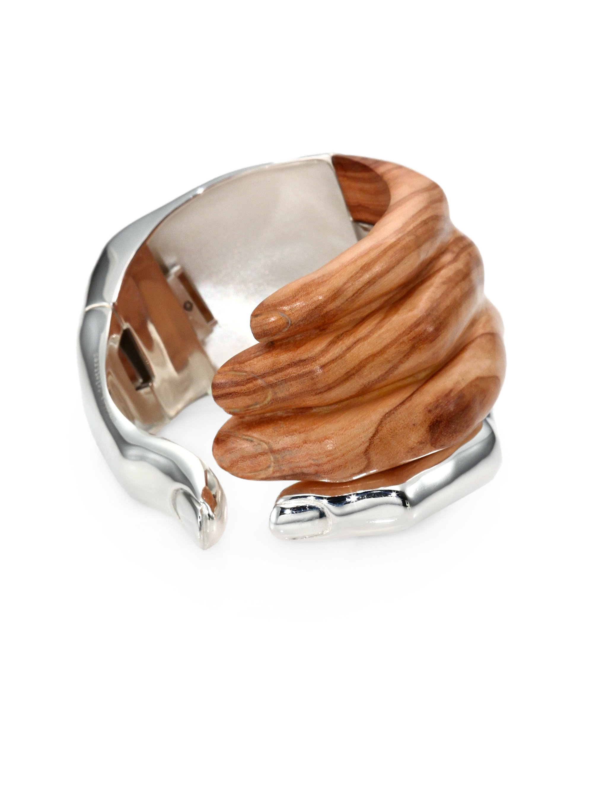 Lyst Delfina Delettrez Stone Hand Olive Wood Sterling