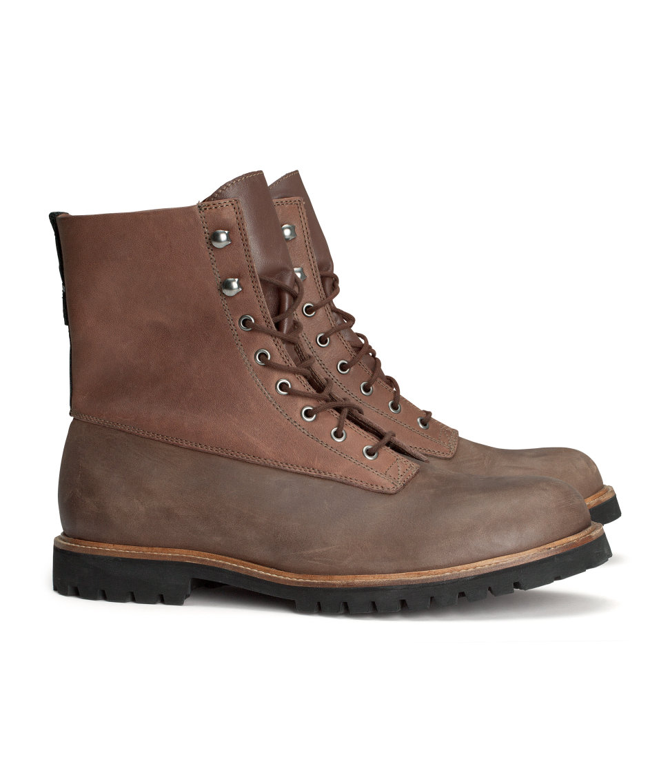 h m hiking boots in brown for lyst