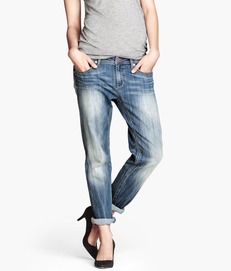 Lyst - Hu0026m Boyfriend Jeans in Blue