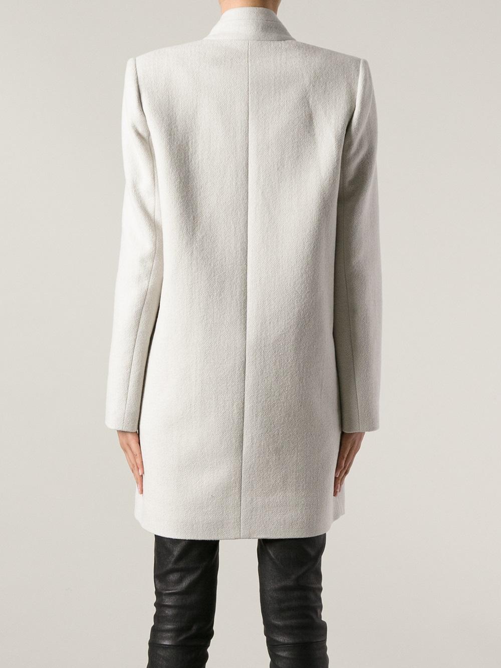 Isabel Marant Oversize Coat In White Lyst